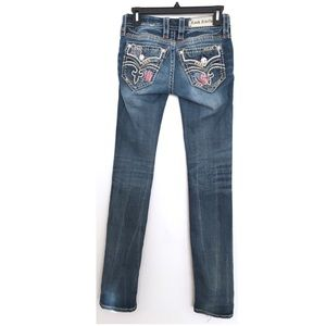 ROCK REVIVAL Raven Straight Jeans Size 25